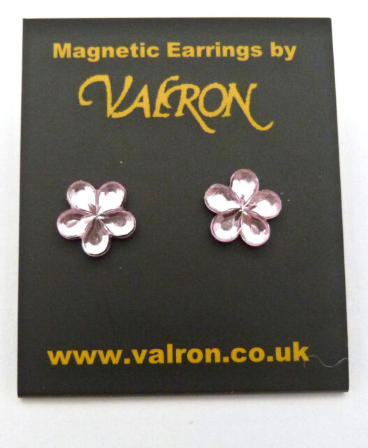 MINI CRYSTAL FLOWER EARRINGS IDEAL CHILDREN STUD OR MAGNETIC CHOICE OF COLOURS