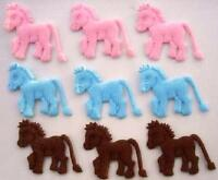 60 Felt Horse Applique/pink,blue,brown Baby/sewing/trim/motif/bow/animal H236
