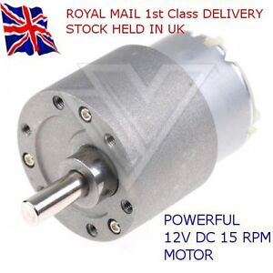 12V-DC-HIGH-TORQUE-High-power-Reversable-Electric-Motor-15-RPM-amp-Gear-Box
