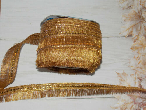 deep gold fringe trim braid decoration dance ribbon rhinestone 2.5cm