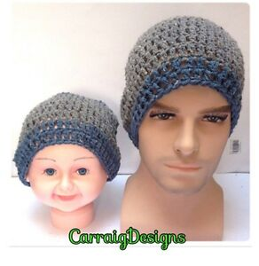 8879f206568 Father Son matching hat set Mans men slouch hat handmade knitted ...