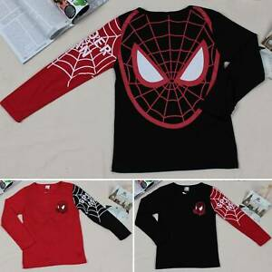Kids-Boys-Spider-Man-Cartoon-Long-Sleeve-T-Shirts-Sweatshirt-Pullover-Tops-Tee