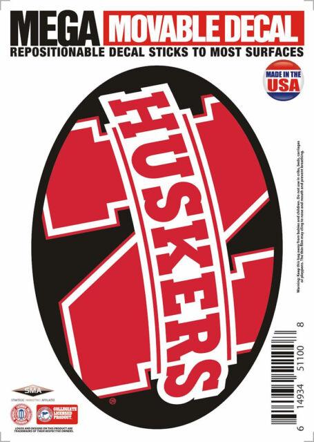 "Nebraska Cornhuskers 5""x7"" Mega Decal [NEW] NCAA Auto Car Emblem Sticker CDG"