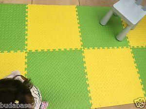 62.5cm*62.5cm*10mm Thick Interlocking Eva Soft Foam Floor Mats Gym Garage Mats