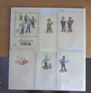 Papier-a-lettre-Pelletier-annee-50-rare-TINTIN