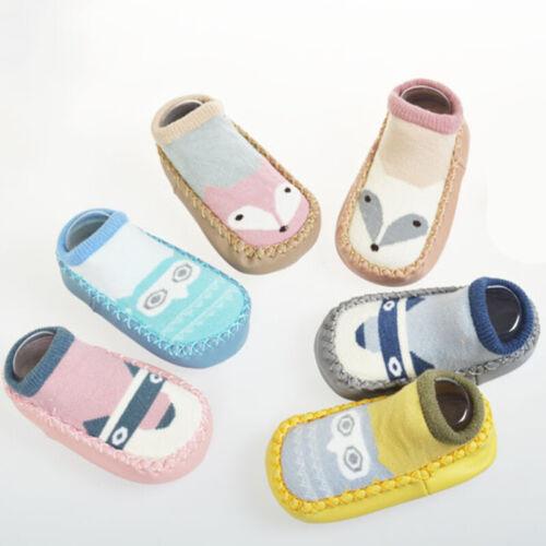 Newborn Unisex Baby Girls Kid Non-slip Socks Warm Winter Cartoon Booties Slipper
