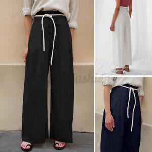 Oversize-Femme-Pantalons-Loisir-Decontracte-lache-Quotidien-Jambe-Large-Long