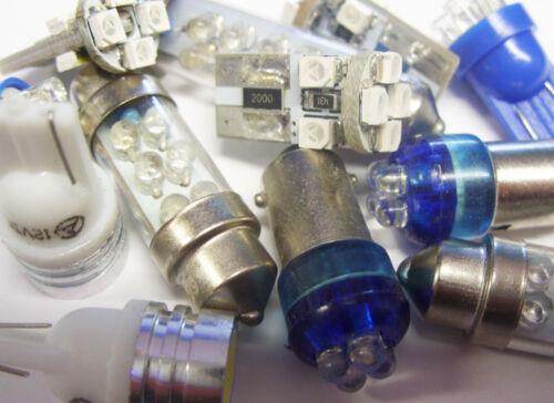 Interior Lights Ampoules Kit 17 Pièces 98 DEL Puddle Botte Soleil Visière pour AUDI A6