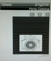 Onan Engine Performer P216 Operating & Parts Manual (2 Books)p220 P220