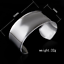 Fashion-Women-925-Silver-Plated-Wide-Smooth-Surface-Bangle-Cuff-Bracelet-Jewelry