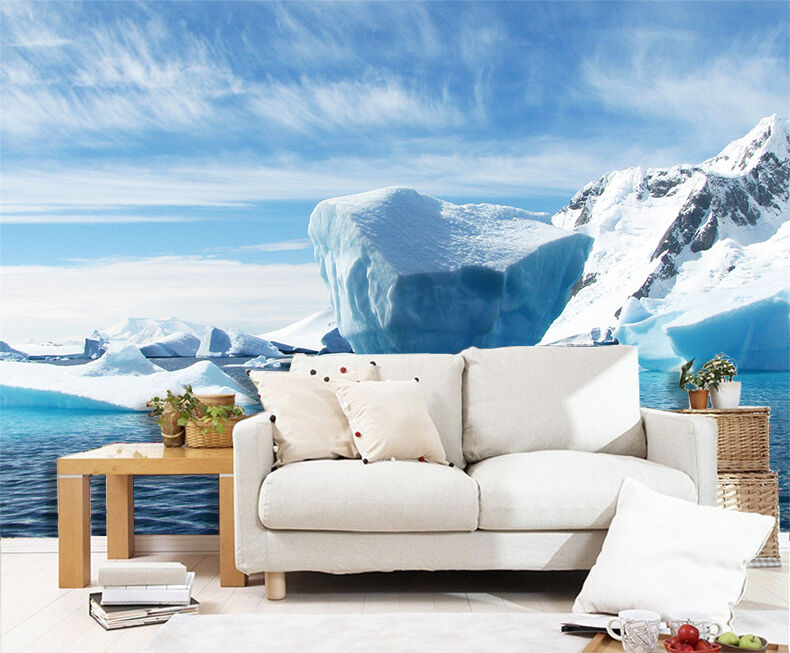 3D ice Arctic snow Weiß Wall Paper Print Decal Wall Deco Indoor wall Mural