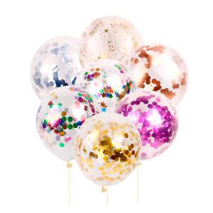 5Pcs-Clear-12-039-039-Foil-Foam-Confetti-Balloon-Wedding-Birthday-Party-Decoration