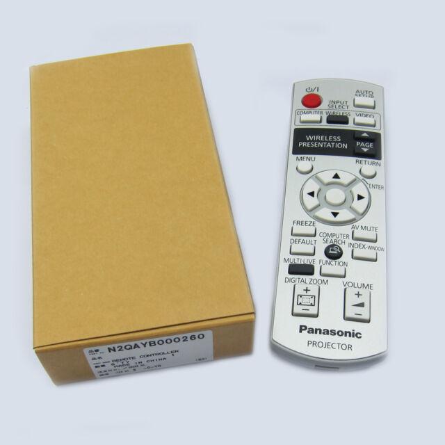 Panasonic LCD Projector Remote Control PT-LB75 PT-LB80 NTU NTE NTEA N2QAYB000260