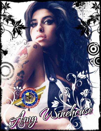 """POP Music/"""" Personalized T-shirts Amy Winehouse /""""Rock"""