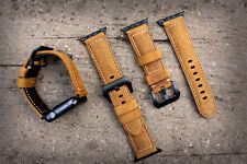 Quality Genuine BULL Leather Watch Strap Band for Apple Watch Series 1 2 42mm