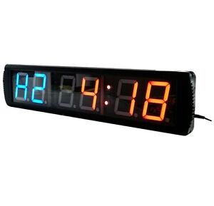 4 39 39 large led countdown wall clock crossfit timer gym