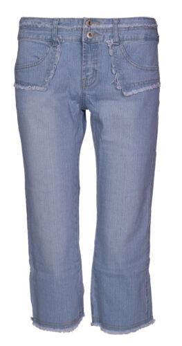 Da Donna In Denim Stretch Corti Pantaloni Donna Pantaloni Jeans Blu 3//4 pantaloni corti taglia 8-14