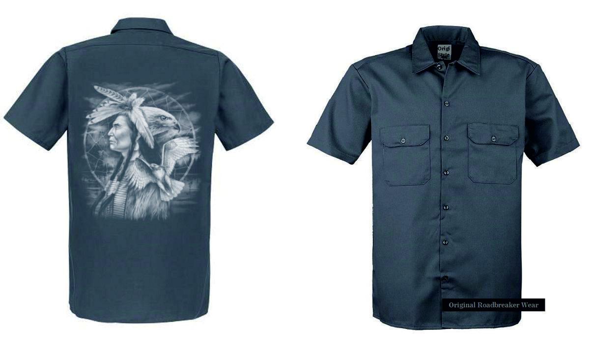Maglietta Worker 2 tonalità INDIANO natur&flackenmotiv modello Indiano Falco Falco Falco 42c10d