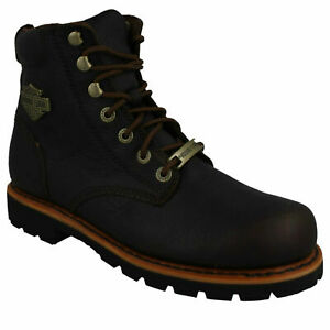 MENS HARLEY DAVIDSON VISTA RIDGE D93424 LACE UP CASUAL ANKLE BOOTS LEATHER SIZE