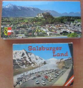 Two-Vintage-postcard-booklets-Salzburger-Land-Austria-1960-039-s-photos-great-cond