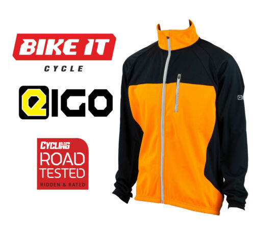 2016 EIGO LEVANTER THERMAL WINDPROOF CYCLING JACKET WINTER MTB VIVID ORANGE