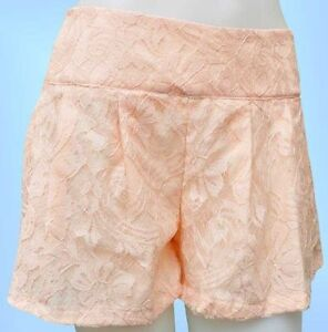 ATMOSPHERE Primark Lace Shorts Floral Hot Pants Nude 10 12 NEW