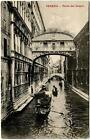 1913 Venezia - Ponte dei Sospiri, gondole Cap d'Antibes - FP B/N VG ANIM
