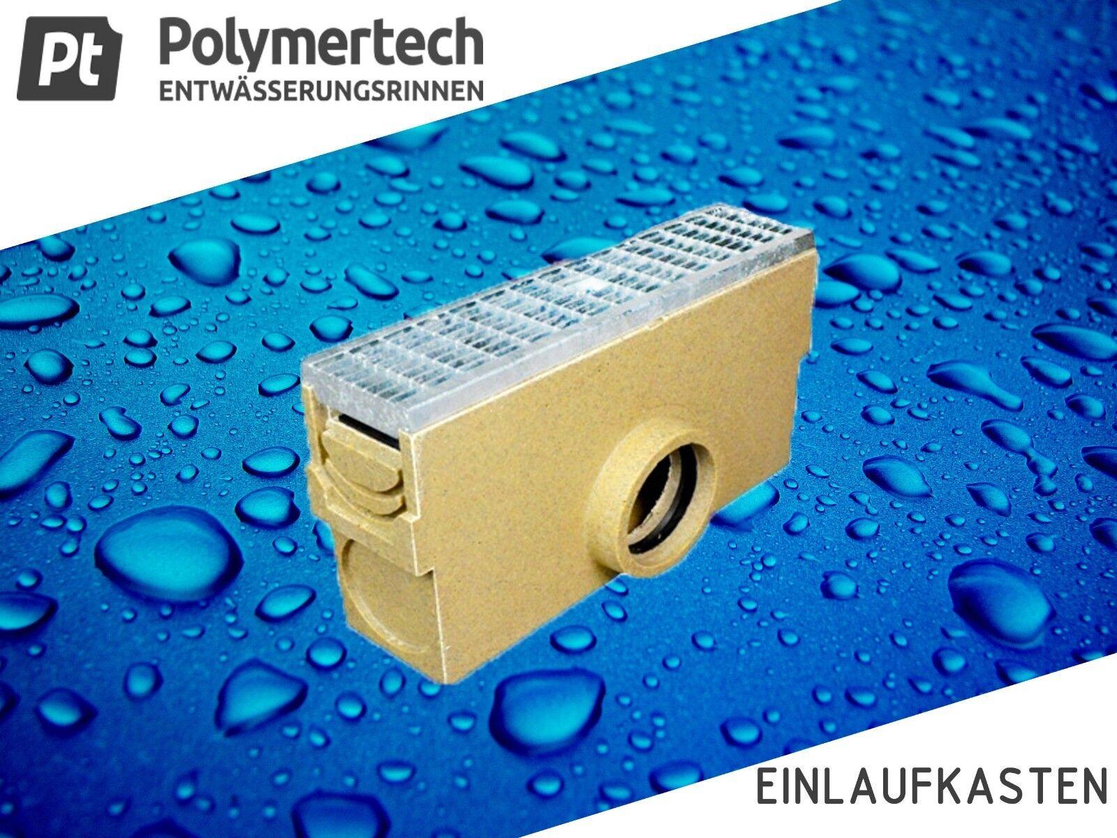 Polymerbeton Einlaufkasten inkl.Maschenrost verzinkt Kl.C-25 bis 25t
