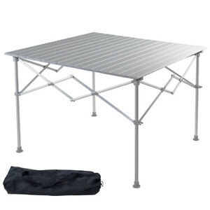 Image Is Loading Aluminum Folding Picnic Camping Table Lightweight Roll Up