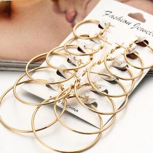 6Pairs-set-Vintage-Silver-Gold-Big-Circle-Hoop-Earrings-Women-Steampunk-Ear-Clip