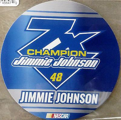 JIMMIE JOHNSON #48  7x CHAMPION vinyl decal