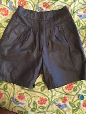 Leather High Waist Shorts Gray Small