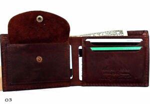 Men/'s Genuine Leather Quatro Wallet Brown