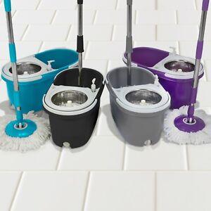 360-Degree-Spin-Mop-Microfibre-Mop-Head-Dual-Bucket-Hygienic-Floors-Cars-Windows