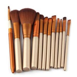 12pcs-Professionelle-Make-up-Pinsel-Kabuki-Pinsel-Set-Powder-Foundation-Blusher