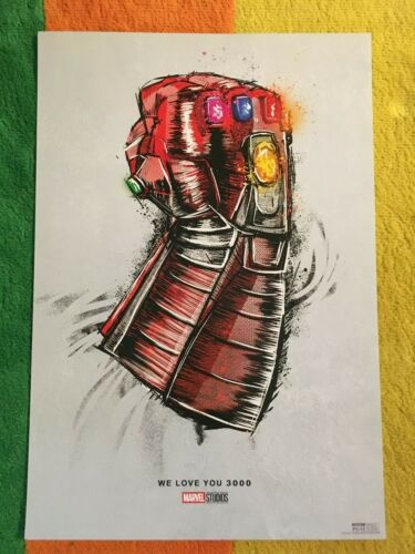 PROMO Exclusive Avengers Endgame We Love You 3000 Movie Poster