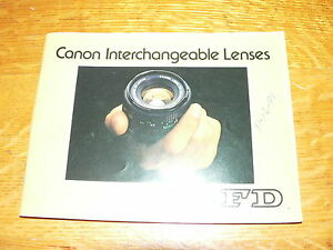 Vintage-Canon-FD-Interchangeable-Lenses-Information-Booklet-VG-Condition