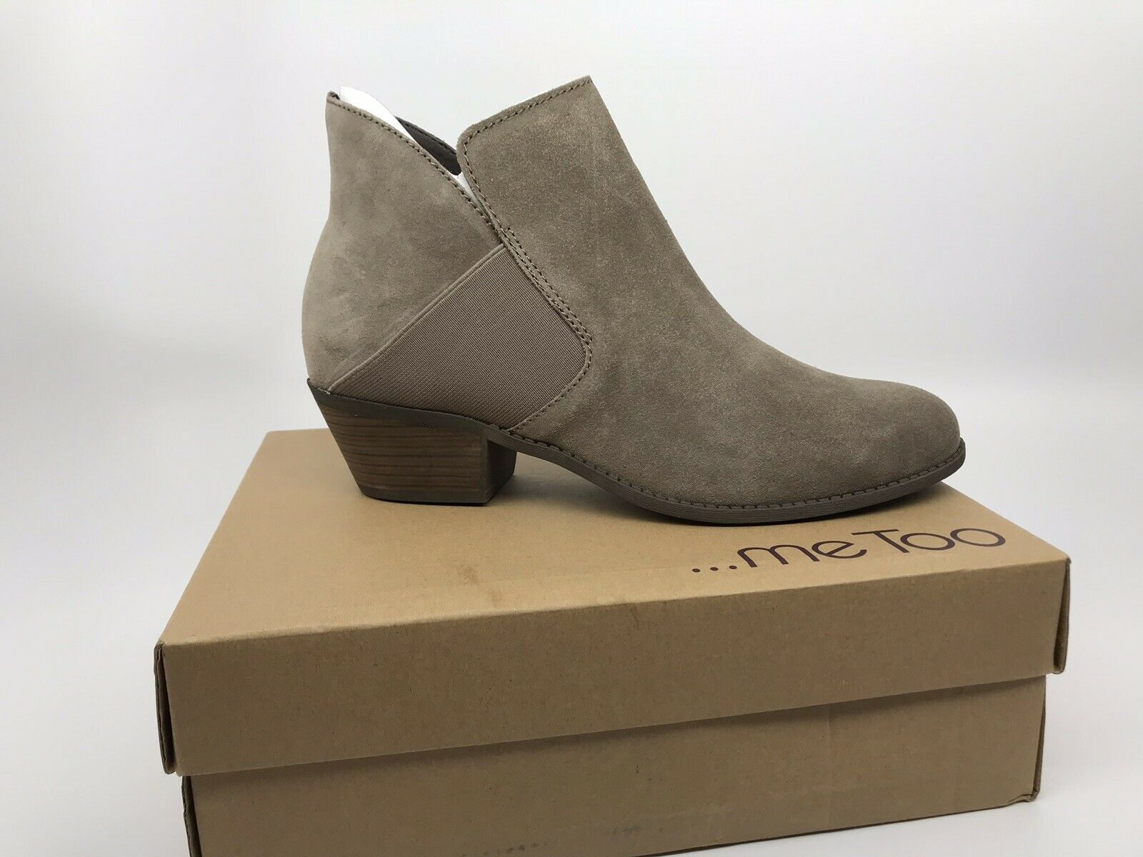 ME TOO Zoey Womens Suede Bootie Ankle Boot Size 11 M Nutmeg Brown