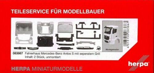 HERPA 1:87//H0 LKW Fahrerhaus Mercedes Antos S mit seperatem Grill #083867