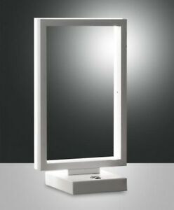 Comodino Lampade Camera Da Letto Design.Lume Moderno Led Metallo Bianco Lampada Da Tavolo Di Design Da