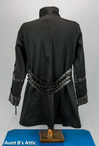 Steampunk Coat Men/'s Unique Black Buckled Gothic Edward Scissorhands Costume