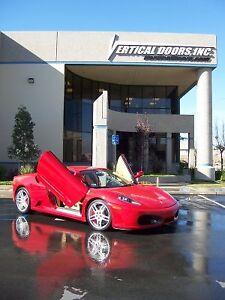 Image is loading Ferrari-F430-05-09-Lambo-Style-Vertical-Doors- & Ferrari F430 05-09 Lambo Style Vertical Doors VDI Bolt On Hinge Kit ...