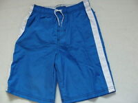 Boys Swim Trunks Size 6 7 Board Shorts Blue Bathing Suit Upf50+ Small