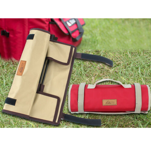 Outdoor Camping Roll Up Tent Peg Nails Storage Case Hammer Organize Tote Bag