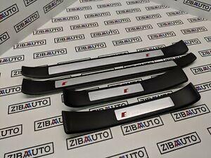 Audi-A4-B6-B7-S-Line-porte-Sill-plaque-Moulure-Set-GENUINE
