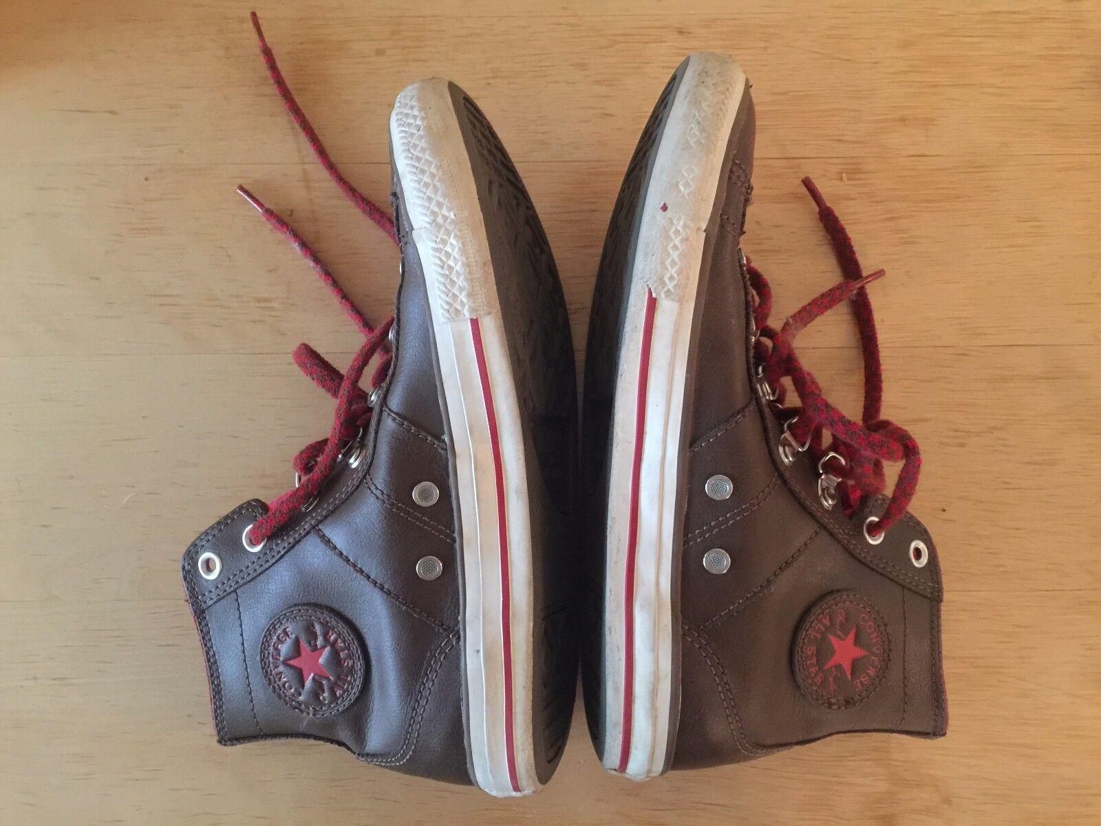 Converse Chuck Taylor Leather Marron Hiker Sneaker   chaussures  Hi Top Femme  Sz 7