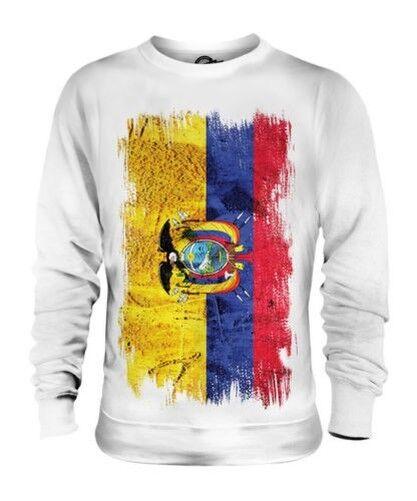 Equateur Drapeau Grunge Unisexe Pull Équatorien Maillot de Football Cadeau