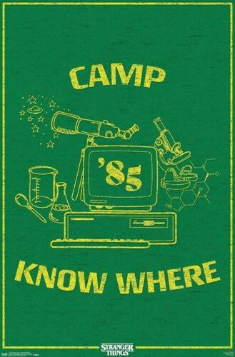 STRANGER THINGS 3 22x34 TV 18103 CAMP KNOW WHERE POSTER