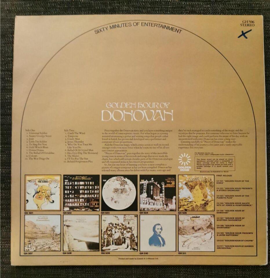 LP, Donovan, Golden Hour of Donovan
