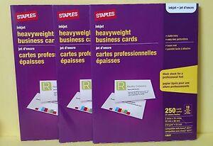 750 staples 12527 inkjet heavy weight matte ivory business cards image is loading 750 staples 12527 inkjet heavy weight matte ivory reheart Choice Image